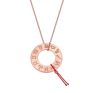 Naszyjnik My Zodiac – różowe złoto / 50 cm