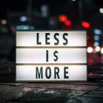 Lekcje Saturna, czyli Less is More